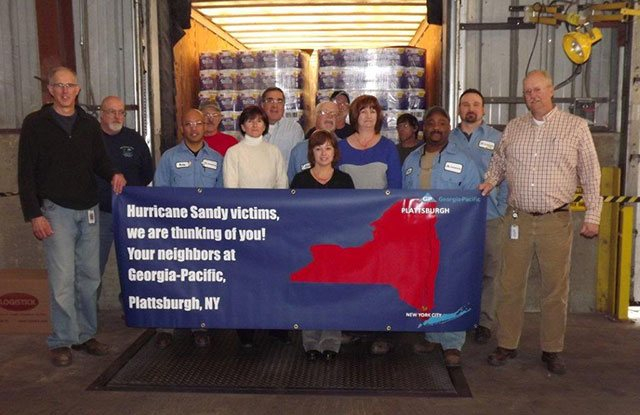GP sends truckloads of products to support Hurricane Sandy relief efforts through Convoy of Hope & Feed the Children.