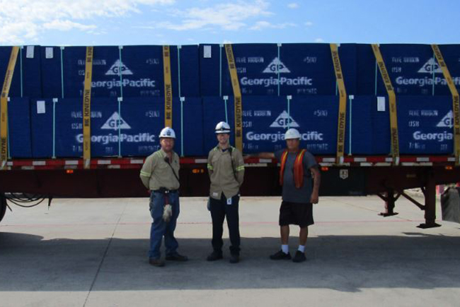 Right after the hurricane first hit the area, employees from GP's Hosford mill personally loaded a 16‐foot U-Haul with supplies purchased by Georgia‐Pacific to distribute to Liberty, Calhoun and Gulf counties in Northwest Florida.
