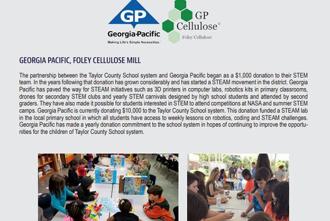 GP's Foley Mill Provides Full STEAM Ahead to Local Schools
