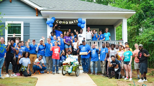 For more than 20 years, Georgia‐Pacific has teamed up with Atlanta Habitat for Humanity to construct homes for qualified and hardworking families.