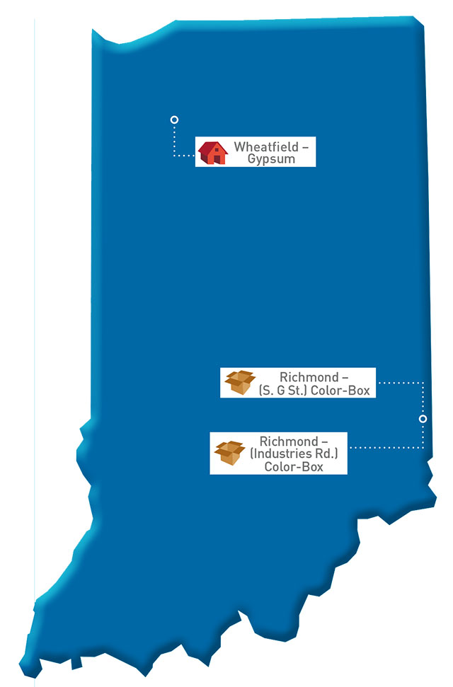 Indiana Map of GP locations
