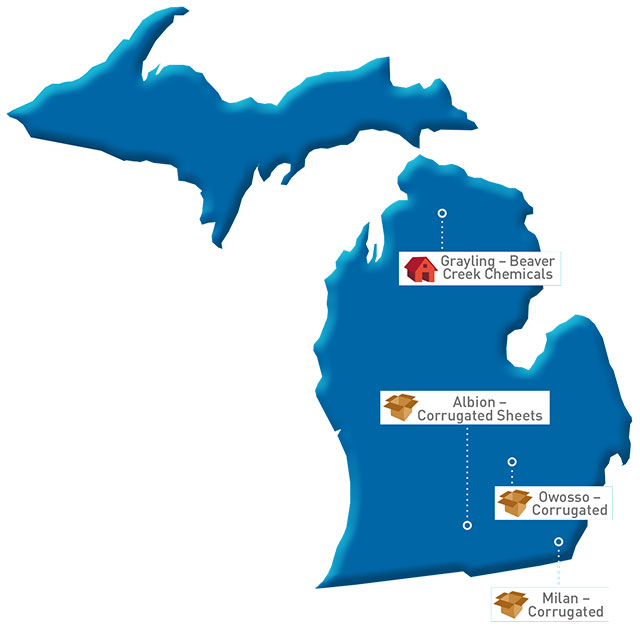 Michigan Map of GP locations