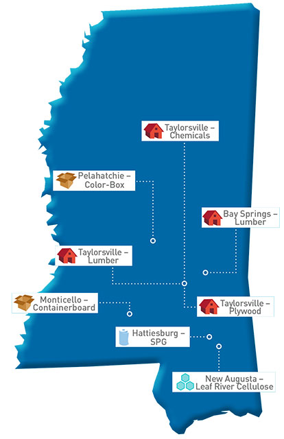 Mississippi Map of GP locations