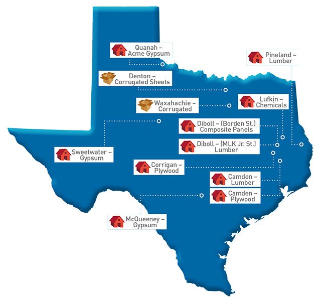 Texas Map of GP locations