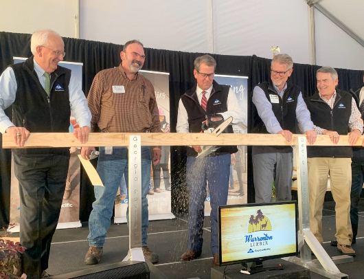 Georgia-Pacific celebrated the official opening of its newest lumber facility with an onsite dedication in Warren County, Georgia.