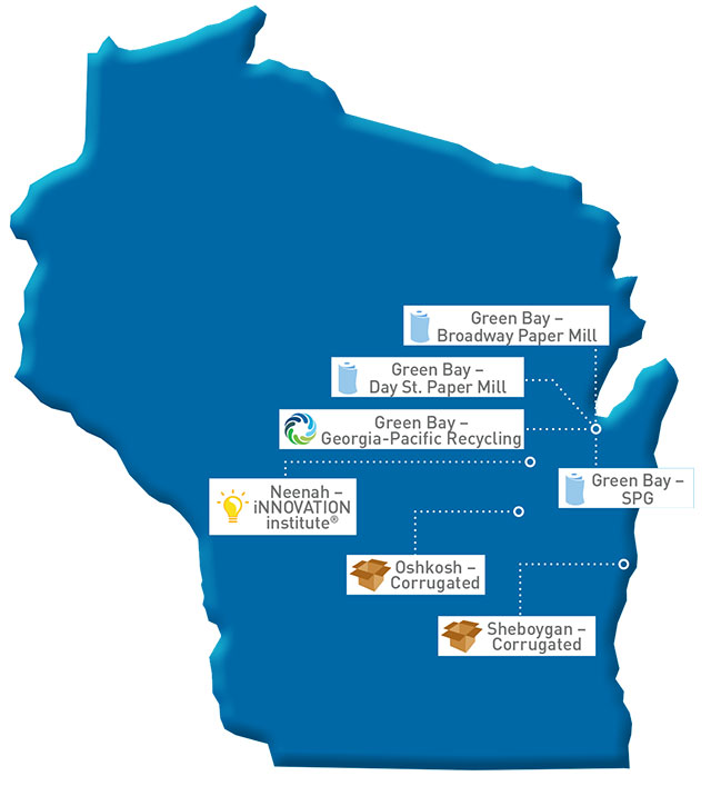 Wisconsin Map of GP locations