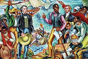 Amistad mural at Talladega College