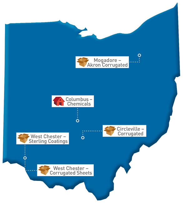 Ohio Map of GP locations